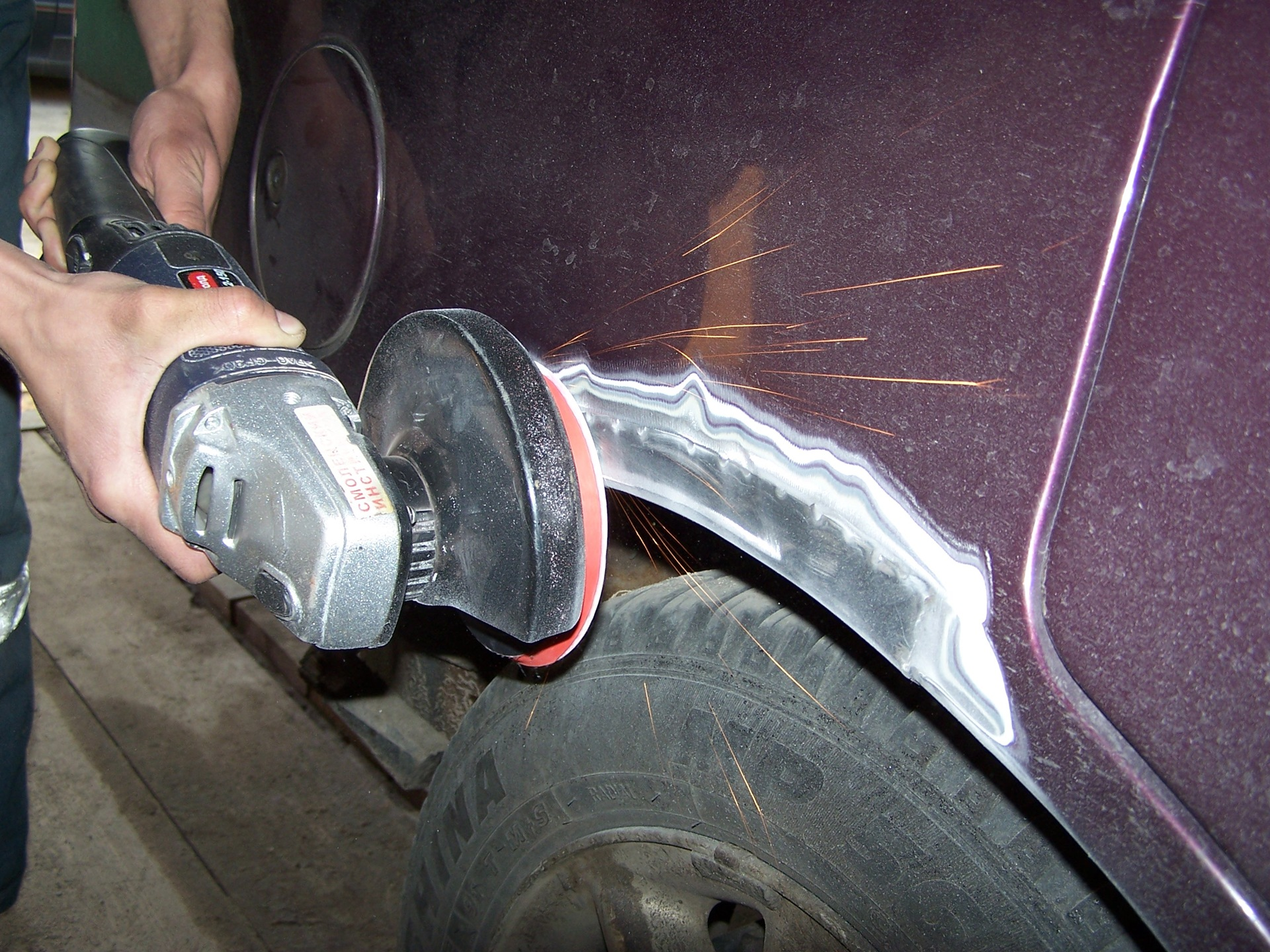 Шпаклевка автомобиля своими руками видео уроки 125