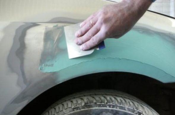 Шпаклевание перед покраской авто