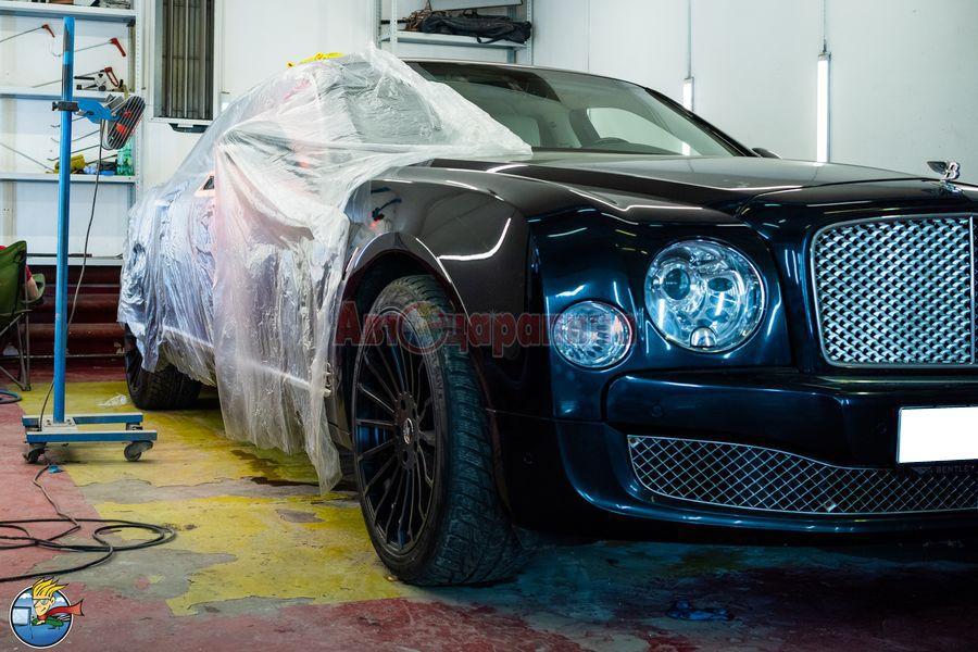 bentley 02 - Частичная окраска деталей автомобиля