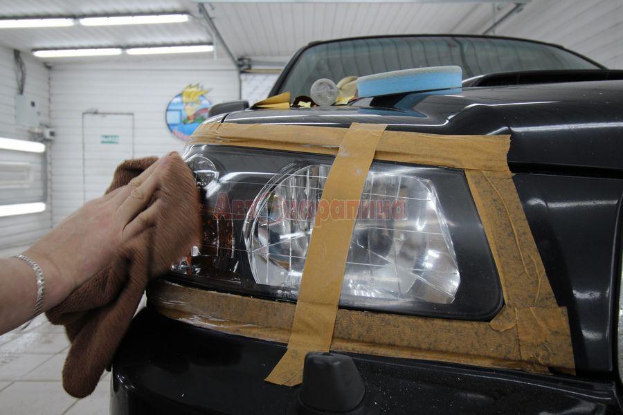 Как отполировать стеклянную рифленые фары своими руками